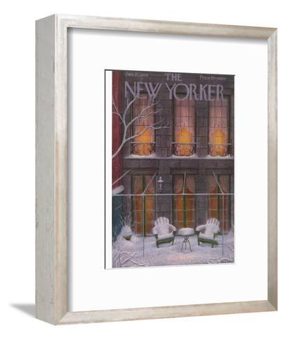 The New Yorker Cover - January 21, 1956-Edna Eicke-Framed Art Print