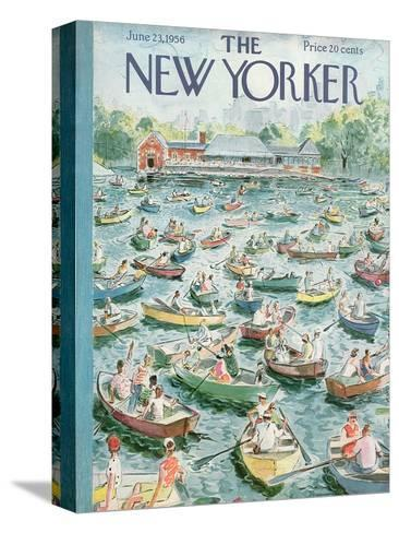 The New Yorker Cover - June 23, 1956-Garrett Price-Stretched Canvas Print