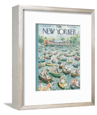 The New Yorker Cover - June 23, 1956-Garrett Price-Framed Art Print