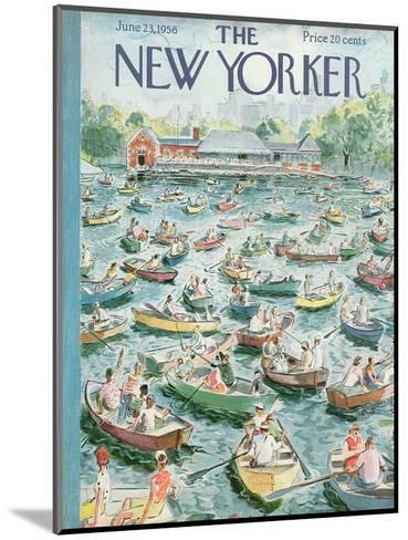 The New Yorker Cover - June 23, 1956-Garrett Price-Mounted Premium Giclee Print