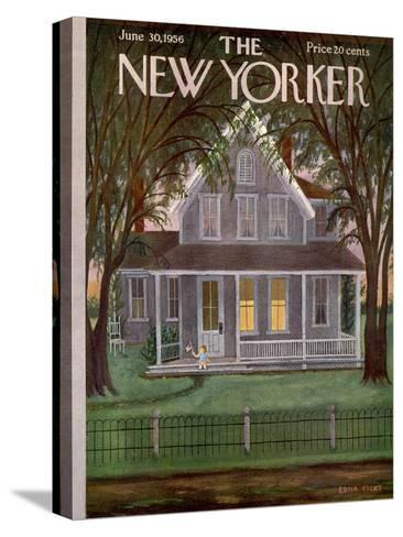 The New Yorker Cover - June 30, 1956-Edna Eicke-Stretched Canvas Print