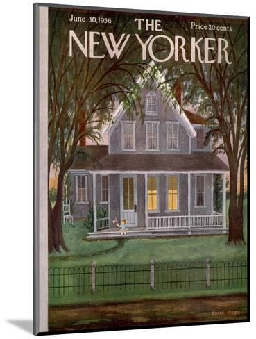 The New Yorker Cover - June 30, 1956-Edna Eicke-Mounted Premium Giclee Print