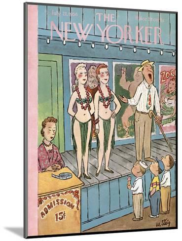 The New Yorker Cover - July 21, 1956-William Steig-Mounted Premium Giclee Print