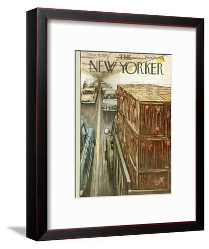 The New Yorker Cover - November 17, 1956-Arthur Getz-Framed Art Print