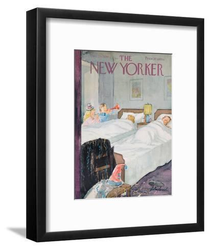 The New Yorker Cover - December 29, 1956-Perry Barlow-Framed Art Print
