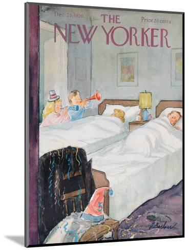 The New Yorker Cover - December 29, 1956-Perry Barlow-Mounted Premium Giclee Print