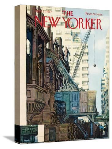 The New Yorker Cover - April 27, 1957-Arthur Getz-Stretched Canvas Print