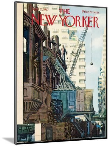 The New Yorker Cover - April 27, 1957-Arthur Getz-Mounted Premium Giclee Print