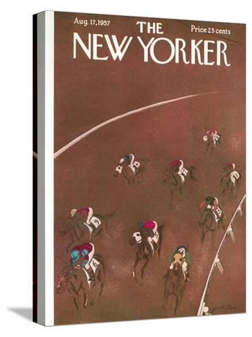 The New Yorker Cover - August 17, 1957-Garrett Price-Stretched Canvas Print