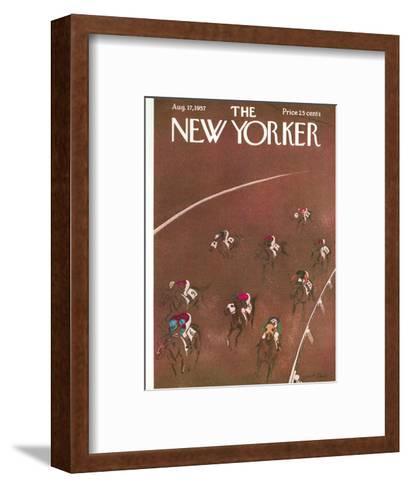 The New Yorker Cover - August 17, 1957-Garrett Price-Framed Art Print