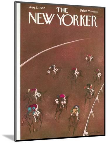 The New Yorker Cover - August 17, 1957-Garrett Price-Mounted Premium Giclee Print