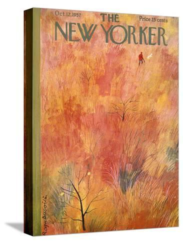 The New Yorker Cover - October 12, 1957-Roger Duvoisin-Stretched Canvas Print