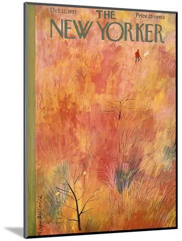 The New Yorker Cover - October 12, 1957-Roger Duvoisin-Mounted Premium Giclee Print