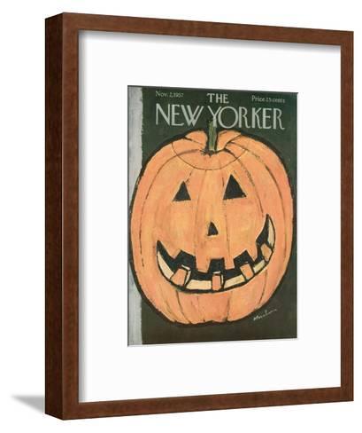 The New Yorker Cover - November 2, 1957-Abe Birnbaum-Framed Art Print