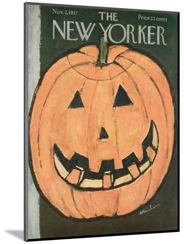 The New Yorker Cover - November 2, 1957-Abe Birnbaum-Mounted Premium Giclee Print