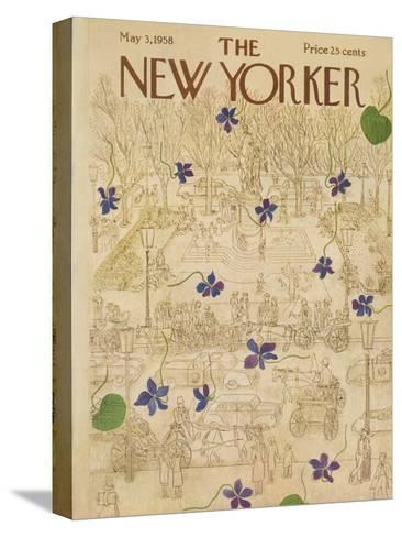 The New Yorker Cover - May 3, 1958-Ilonka Karasz-Stretched Canvas Print