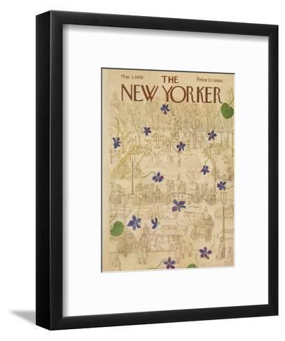 The New Yorker Cover - May 3, 1958-Ilonka Karasz-Framed Art Print