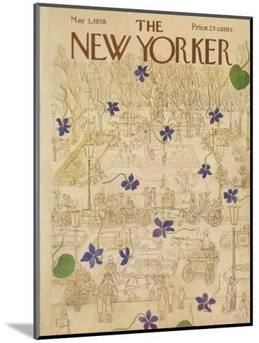 The New Yorker Cover - May 3, 1958-Ilonka Karasz-Mounted Premium Giclee Print