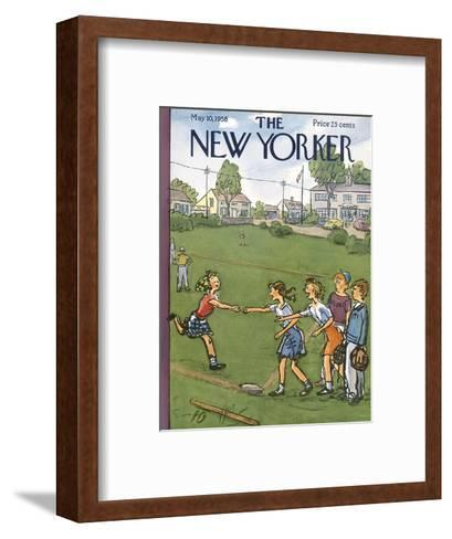 The New Yorker Cover - May 10, 1958-Perry Barlow-Framed Art Print