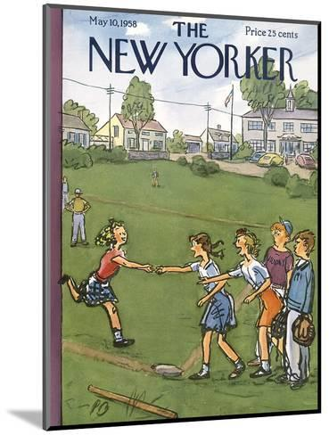 The New Yorker Cover - May 10, 1958-Perry Barlow-Mounted Premium Giclee Print