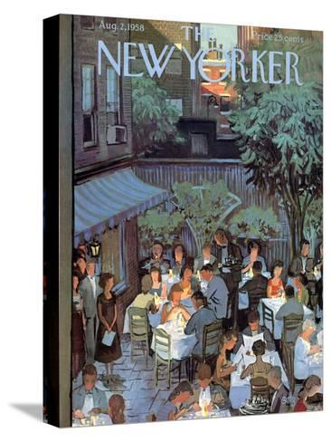 The New Yorker Cover - August 2, 1958-Arthur Getz-Stretched Canvas Print