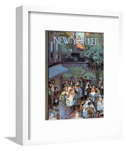 The New Yorker Cover - August 2, 1958-Arthur Getz-Framed Art Print