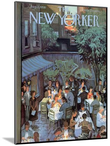 The New Yorker Cover - August 2, 1958-Arthur Getz-Mounted Premium Giclee Print