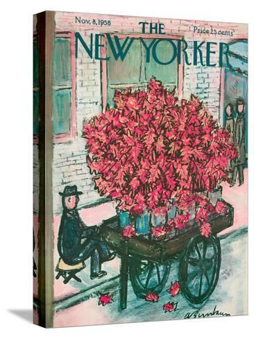 The New Yorker Cover - November 8, 1958-Abe Birnbaum-Stretched Canvas Print
