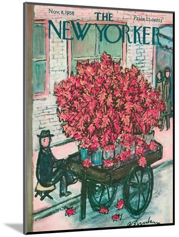 The New Yorker Cover - November 8, 1958-Abe Birnbaum-Mounted Premium Giclee Print