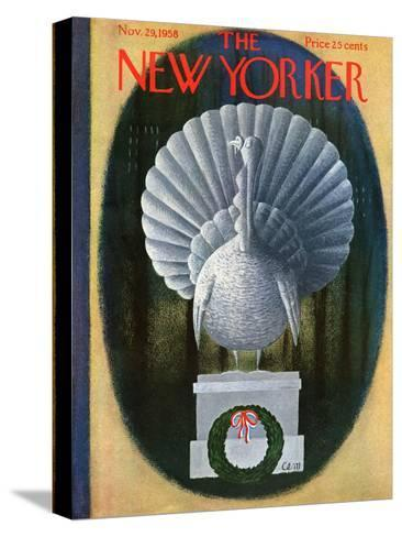 The New Yorker Cover - November 29, 1958-Charles E. Martin-Stretched Canvas Print