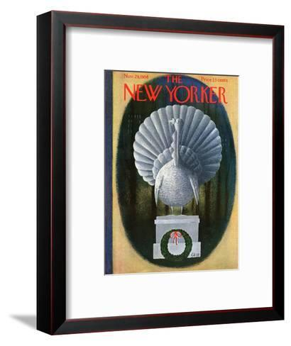 The New Yorker Cover - November 29, 1958-Charles E. Martin-Framed Art Print