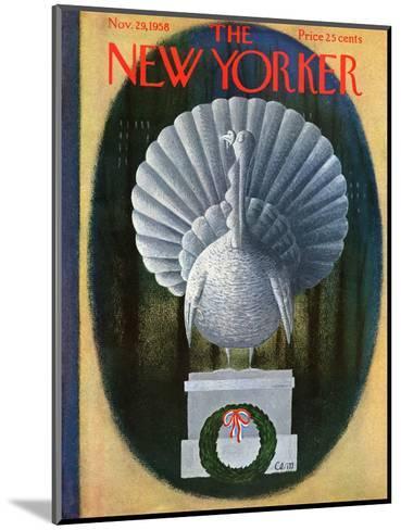 The New Yorker Cover - November 29, 1958-Charles E. Martin-Mounted Premium Giclee Print