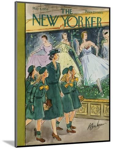 The New Yorker Cover - May 9, 1959-Perry Barlow-Mounted Premium Giclee Print