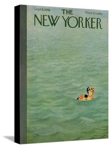 The New Yorker Cover - September 5, 1959-Charles E. Martin-Stretched Canvas Print