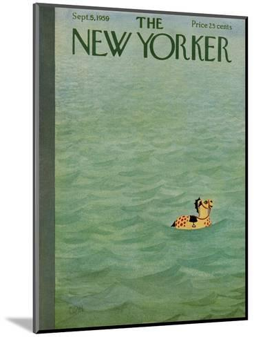 The New Yorker Cover - September 5, 1959-Charles E. Martin-Mounted Premium Giclee Print