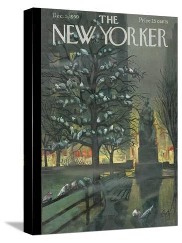 The New Yorker Cover - December 5, 1959-Arthur Getz-Stretched Canvas Print