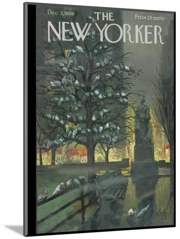 The New Yorker Cover - December 5, 1959-Arthur Getz-Mounted Premium Giclee Print
