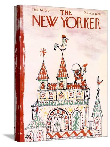 The New Yorker Cover - December 26, 1959-William Steig-Stretched Canvas Print