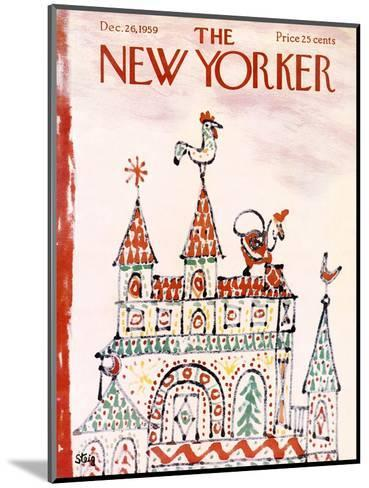 The New Yorker Cover - December 26, 1959-William Steig-Mounted Premium Giclee Print