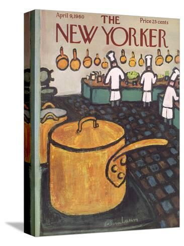 The New Yorker Cover - April 9, 1960-Abe Birnbaum-Stretched Canvas Print