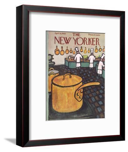 The New Yorker Cover - April 9, 1960-Abe Birnbaum-Framed Art Print
