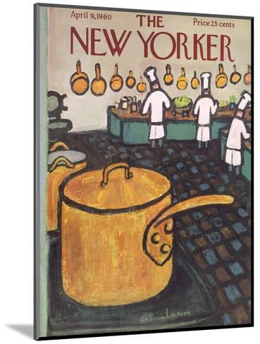 The New Yorker Cover - April 9, 1960-Abe Birnbaum-Mounted Premium Giclee Print