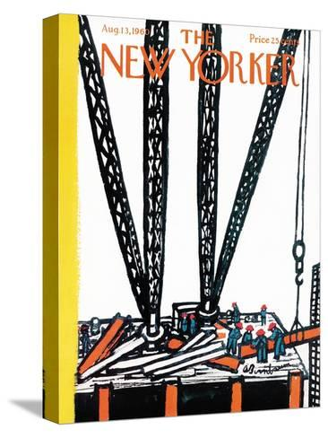 The New Yorker Cover - August 13, 1960-Abe Birnbaum-Stretched Canvas Print