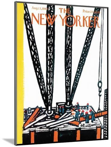 The New Yorker Cover - August 13, 1960-Abe Birnbaum-Mounted Premium Giclee Print