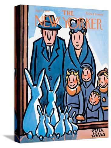 The New Yorker Cover - April 1, 1961-Peter Arno-Stretched Canvas Print