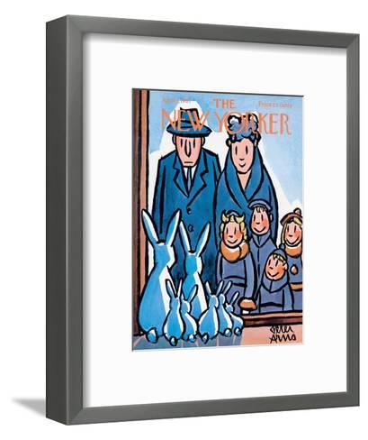 The New Yorker Cover - April 1, 1961-Peter Arno-Framed Art Print