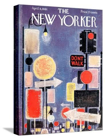 The New Yorker Cover - April 8, 1961-Kenneth Mahood-Stretched Canvas Print