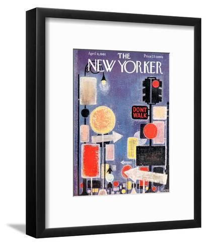 The New Yorker Cover - April 8, 1961-Kenneth Mahood-Framed Art Print