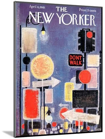 The New Yorker Cover - April 8, 1961-Kenneth Mahood-Mounted Premium Giclee Print