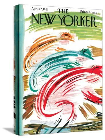 The New Yorker Cover - April 22, 1961-Abe Birnbaum-Stretched Canvas Print